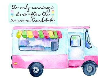 Ice cream truck / postcard - weheartconfetti