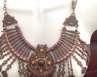 Egyptian Cleopatra's necklace, Cleopatra's necklace antique Egyptian coins at  bottom , Egyptian Cleopatra's necklace with Belly dance style