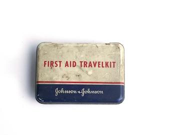 Johnson & Johnson Vintage First Aid Travelkit- 50s/60s