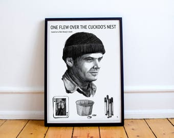 One Flew Over The Cuckoo's Nest (based on Ken Kesey's novel) movie poster