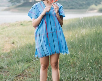 Karen tribe, Clothes fashions mini dress bohemian, Karen style in north of Thailand by mymon