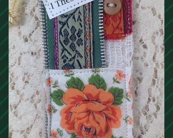Orange Rose Prayer Pocket Bookmark