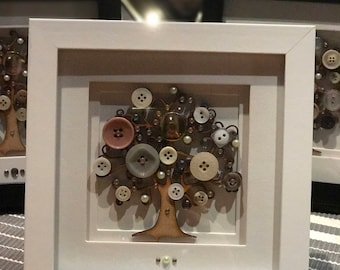 Vintage Button Tree