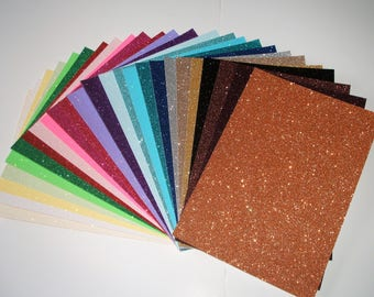 5 A4 Soft Touch Sparkly Glitter Card