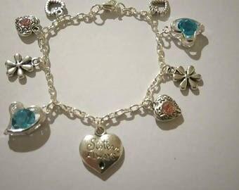 Sister Forever Charm Bracelet