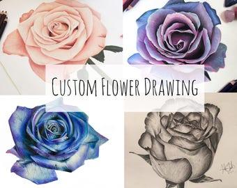 Custom Flower Drawing