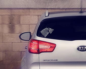 Direwolf House Stark Car Decal Sticker | Game of Thrones Car Decal Sticker | Game of Thrones