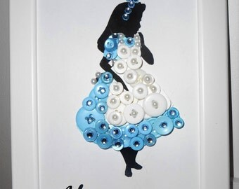 Disney's Alice in Wonderland Inspired Button Art