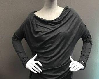 Drape Tunic - Gray or Black