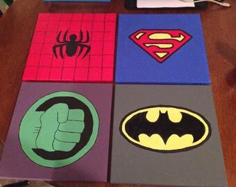 Super Hero Canvas Art Set
