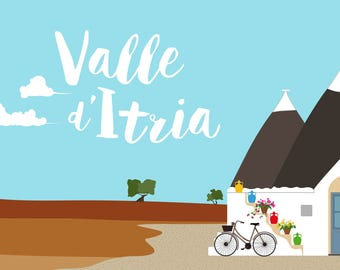 Valle d'Itria trulli with olive trees