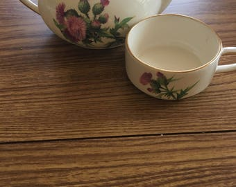 Royal Winton Miniature Teapot & Cup