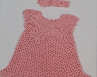 Sweet pink dress and headband
