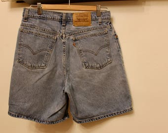 Vintage Levi's Jean Shorts, Women's Size 11 Relaxed Fit