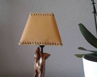 Oak wooden lamp