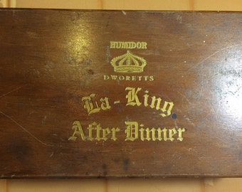 Wooden Vintage Cigar Box