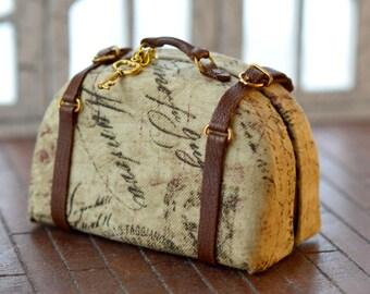 Doll handbag, doll suitcase, Bjd bag, Bjd suitcase, Pukifee Suitcase, Lati Yellow Suitcase, Suitcase for 1/8 Bjd Dolls, Carpet for 1/6 Bjd
