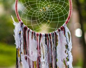 Pink White Girls Dream Catcher