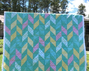 Handmade Quilt (Twin XL, Hand-sewn, Hand-quilted)