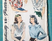 Vintage Simplicity 4507 Shirt Size 16 Bust 34 Forties