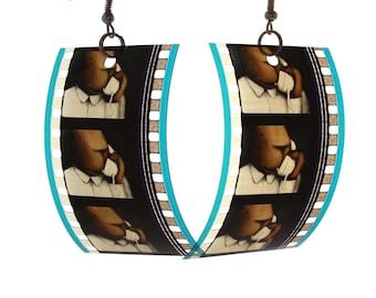 35mm film earrings, cartoon