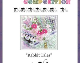 Crazy Quilt Block Pattern Rabbit Tales by Pamela Kellogg