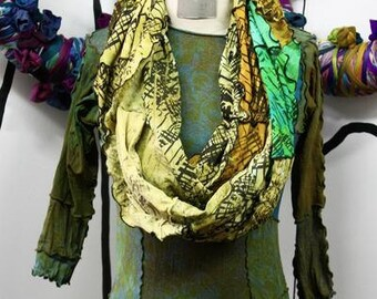 Infinity Scarves - Emerald/Charteuse
