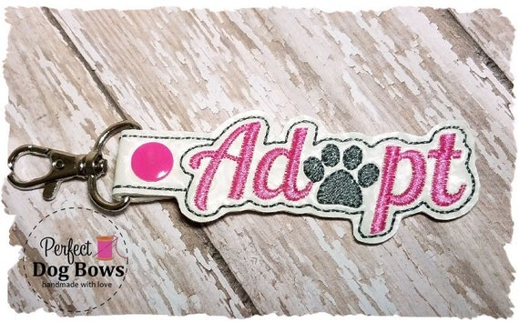 Adopt Paw Keychain,  Dog Rescue, Adopt a Pet, Adopted Dog, Pet Lover, Adopt Key Fob