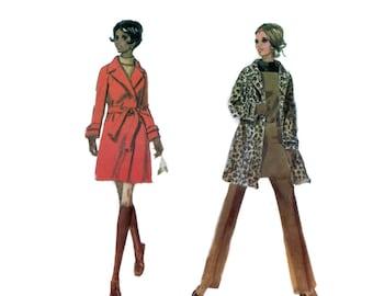 70s uncut Coat pattern Leopard Coat pattern High Waisted Pants pattern A-line Jumper pattern 34-25.5-36 McCalls 2059