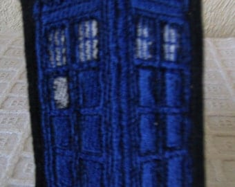 Dr Who Tardis Embroidered Iron On Patch, Patches, Embroidered Applique, Embroidered Patch, British Police Box, Police Call Box, Time Travel