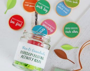 Grandad And Me Personalised Boredom Busting Tokens Jar - Activity Ideas - Father's Day Gift - Personalised Father's Day - Grandad Gift