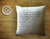 The Notebook quote, decorative throw pillow cover, Valentine's gift, couples gift, proposal