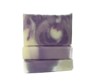 Lavender Spearmint Soap - Handmade Soap with Essential Oil - Artisan Soap with Swirls - Vegan Soap - Cold Process - Cruelty Free - Body Soap