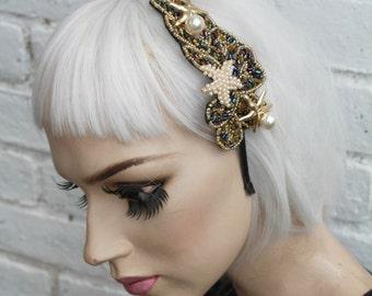 Mermaid Starfish Shell beaded Eveningwear 20s Headband