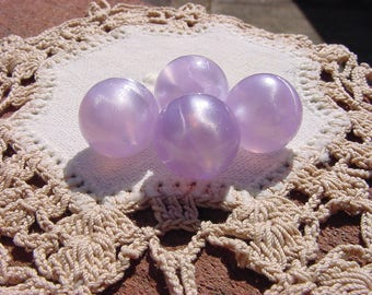 Lilac Whisper Vintage Lucite Moonglow Beads