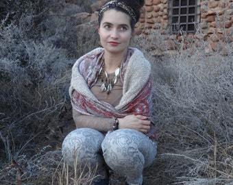 As Featured in Jewelry Affaire Magazine, Statement, Crochet Necklace, Jewelry, Original, Handmade, Tribal, Feathers, Leaves