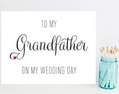 Card for Grandfather on Wedding Day - To My Grandfather on my Wedding Day - Wedding Day Cards - Greeting Cards - Weddings - Wedding Day Card