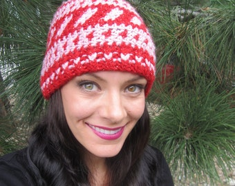 Crochet Pattern: Hearts Around My Head Hat