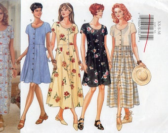 Butterick 4440 Misses Petite Dress Uncut Pattern Size XS-S-M Copyright 1996