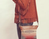 Petits articles en cuir bandoulière, sac à main petit bobo, sac sud-ouest, Boho, Aztec sac, trousse de maquillage ADO, Boho maquillage sac à bandoulière Boho