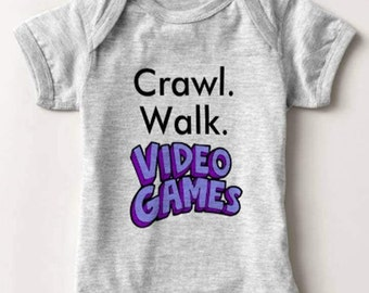 Video Games Gaming Gamer Baby Bodysuit One Piece Newborn Infant Boy Girl Shower Gift