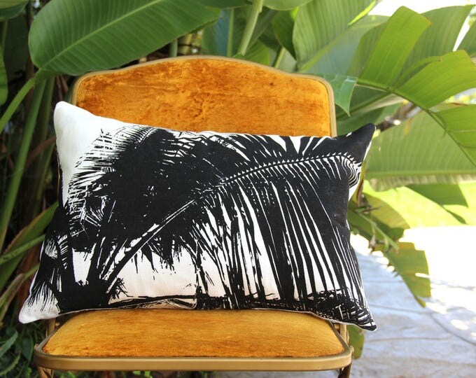 Baja Beach Throw Pillow - Black & White