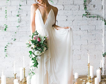 Silk Gauze Ombre Wedding Gown - The Clementine by Cleo and Clementine