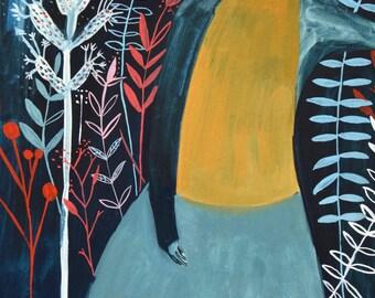 Blue Ferns - Fine art print