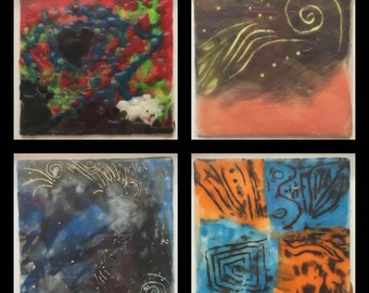 Perfect Grouping of Original Encaustic Paintings