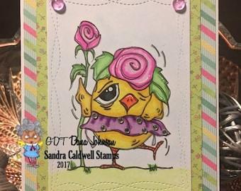 1372 Rosie Chick Digi Stamp