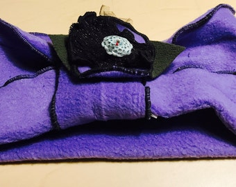 POLARTEC NECKWARMER/HAT with flower pin