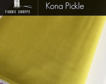 Kona cotton solid quilt fabric, Kona PICKLE 480, green fabric, Solid fabric Yardage, Kaufman, Cotton fabric, Choose the cut