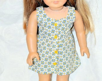 "18"" Doll Dress for American Girl Dolls, Journey Girls and Mapalea"