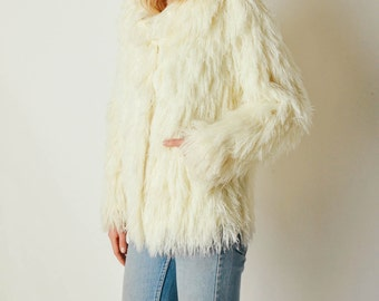 Vintage Shag Fringe Sweater Coat